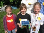 "•The team of children from Ikskile participate in ""The Sun`s Cup"" – competition to make the fastest toy boat powered by solar energy."